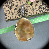 Tampa Bay Coral sterling silver pendant - Rusmineral cabochons&jewelry - 1