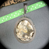 Tampa Bay Coral sterling silver pendant - Rusmineral cabochons&jewelry - 5