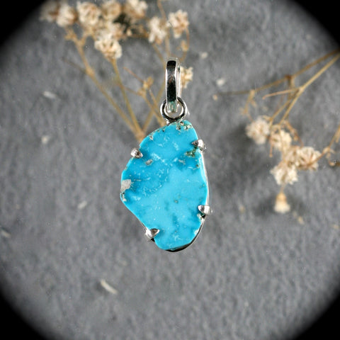 Kazakhstan Turquoise Sterling silver Pendant