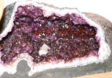 Amethyst Geode Cathedral - Rusmineral cabochons&jewelry