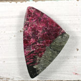 Eudialyte both sides polished pebble-cabochon iridescent - Rusmineral cabochons&jewelry