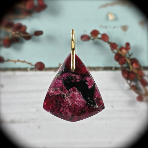 Eudialyte pendant drilled