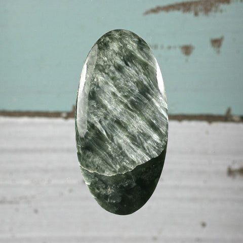 Seraphinite oval cabochon - Rusmineral cabochons&jewelry - 1