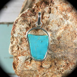 Turquoise Sleeping Beauty two sides Pendant