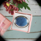 Swedish Blue gemstone sterling silver ring