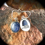 Blue Kyanite sterling silver earrings