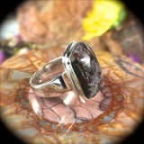 Chlorite in Quartz sterling silver ring