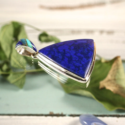 Lapis Lazuli pendant - Rusmineral cabochons&jewelry - 1