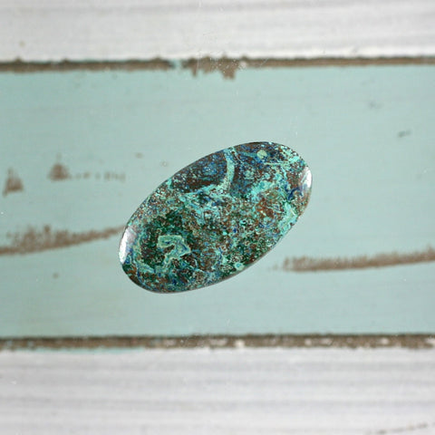 Shattuckite oval cabochon - Rusmineral cabochons&jewelry - 1