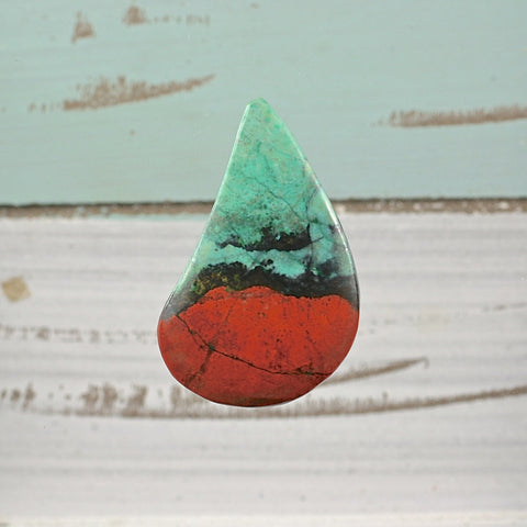 Sonora Sunrise Chrysocolla freeform cabochon - Rusmineral cabochons&jewelry - 1