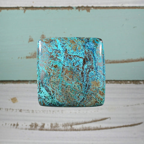 Shattuckite freeform cabochon - Rusmineral cabochons&jewelry - 1