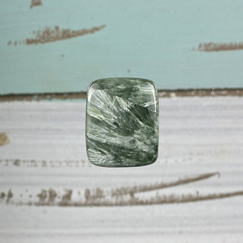 Seraphinite freeform cabochon - Rusmineral cabochons&jewelry - 1
