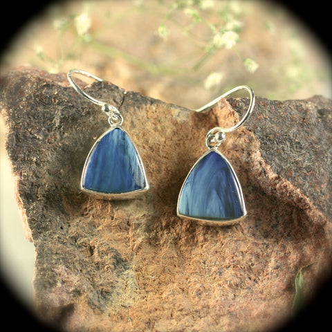 Swedish Blue sterling silver earrings