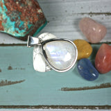 Moonstone sterling silver pendant - Rusmineral cabochons&jewelry - 3