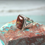 Pietersite sterling silver ring - Rusmineral cabochons&jewelry - 3