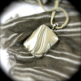 Polish Flint sterling silver pendant - Rusmineral cabochons&jewelry - 3