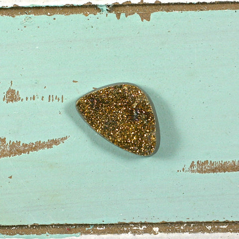 Pyrite drusy golden freeform cabochon - Rusmineral cabochons&jewelry - 1