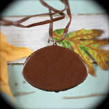 Simbircite leather necklace - Rusmineral cabochons&jewelry - 3