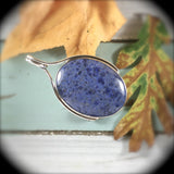 Dumortierite sterling silver pendant - Rusmineral cabochons&jewelry - 2