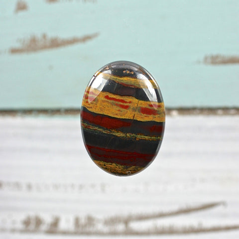 Tiger Iron oval cabochon - Rusmineral cabochons&jewelry - 1