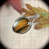 Tiger Eye  sterling silver pendant - Rusmineral cabochons&jewelry - 1