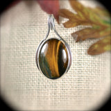 Tiger Eye  sterling silver pendant - Rusmineral cabochons&jewelry - 2