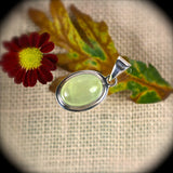 Prehnite sterling silver pendant - Rusmineral cabochons&jewelry - 3