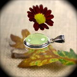 Prehnite sterling silver pendant - Rusmineral cabochons&jewelry - 2