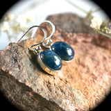 Blue Apatite sterling silver earrings