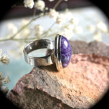 Charoite Sterling Silver ring