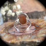 Sun Stone sterling silver ring