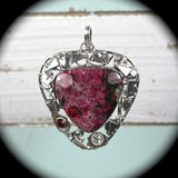 Eudialyte sterling silver pendant - Rusmineral cabochons&jewelry - 3