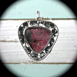 Eudialyte sterling silver pendant - Rusmineral cabochons&jewelry