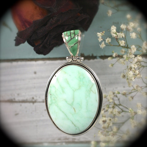 Macedonian Opal sterling silver pendant - Rusmineral cabochons&jewelry