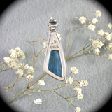 Swedish Blue pendant with inlaid bail