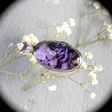 Charoite Sterling Silver pendant w/inlaid bail