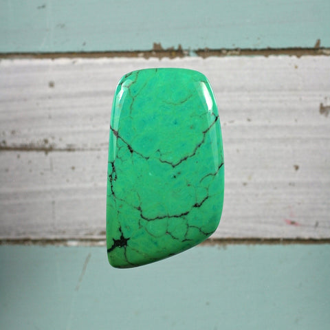 Green Turquoise freeform cabochon - Rusmineral cabochons&jewelry