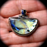 Spectrolite Sterling silver pendant with inlaid bail