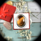 Tiger Eye Sterling Silver ring - Rusmineral cabochons&jewelry - 2