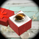 Tiger Eye Sterling Silver ring - Rusmineral cabochons&jewelry - 3
