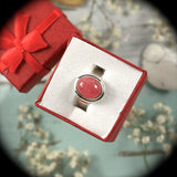 Rhodochrosite Sterling Silver ring - Rusmineral cabochons&jewelry - 2