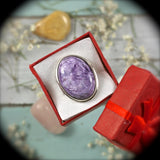 Charoite Sterling Silver ring - Rusmineral cabochons&jewelry - 2