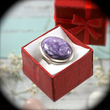 Charoite Sterling Silver ring - Rusmineral cabochons&jewelry - 1