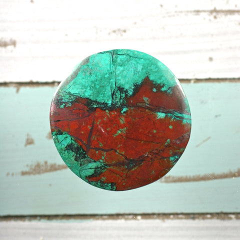 Sonora Sunrise Chrysocolla cabochon - Rusmineral cabochons&jewelry - 1