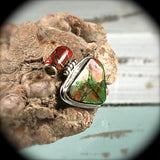 Ammolite sterling silver pendant with inlaid bail - Rusmineral cabochons&jewelry - 5