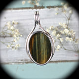 Tiger Eye  sterling silver pendant