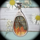 Red Creek Jasper sterling silver pendant - Rusmineral cabochons&jewelry - 5