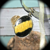 Cancrinite pendant with inlaid bail - Rusmineral cabochons&jewelry - 1