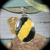 Cancrinite pendant with inlaid bail - Rusmineral cabochons&jewelry - 3