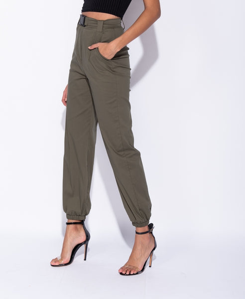 Belt Detail Casual Cargo Trouser - Alyanna by Alexandra